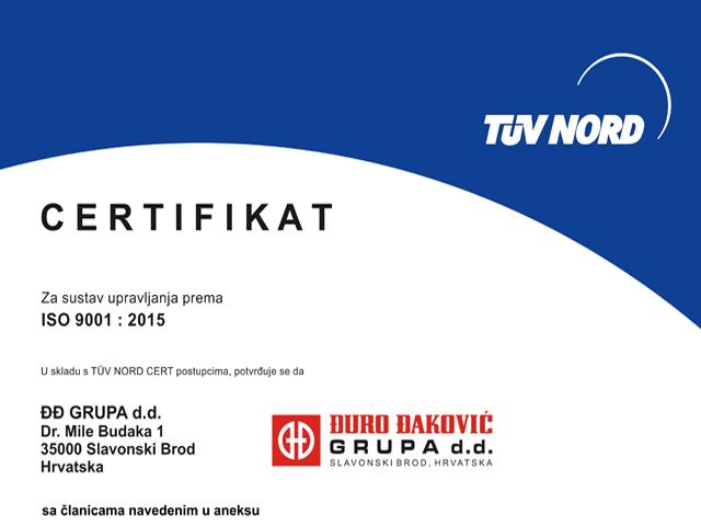 Certifikati sustava upravljanja