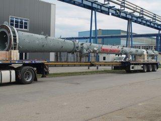 Isporuka dvije kolone - posude pod tlakom za Rafineriju nafte Rijeka