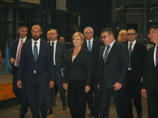 President of the Republic of Croatia visited the company Đuro Đaković Specijalna vozila