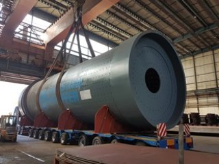 Delivery of the cement mill shell