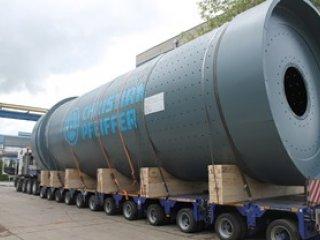 Isporuka najtežeg plašta mlina cementa