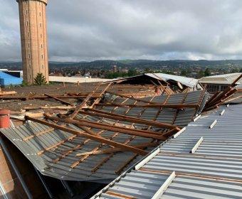 Posljedice olujnog nevremena na proizvodnim halama ĐĐ SV